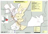 Carte des réalisations du programme RELAC I et RELAC II  dans les regions de Gao et Ménaka