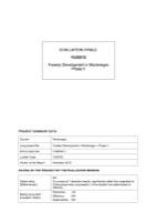 YUG/012 - Forestry Development in Montenegro Phase II